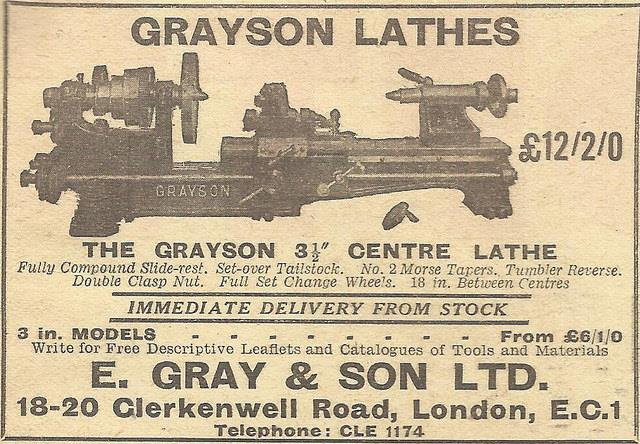 "alte Werbung von ""E. Gray & Son LTD."""